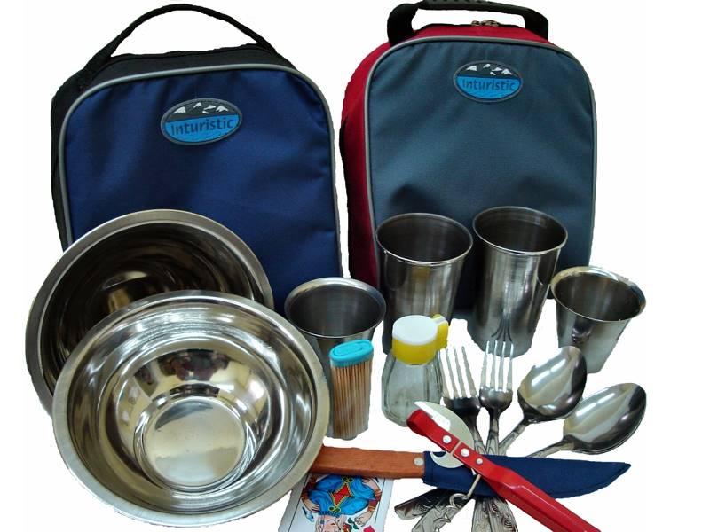 Набор посуды для пикника Inturistic Бардачок на 2 персоны (15 предметов)