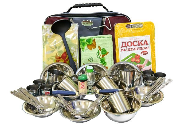 Набор посуды для пикника Inturistic Кейс на 6 персон (48 предметов)