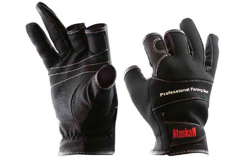 Перчатки спиннингиста Alaskan трехпалые L (AGSHL)