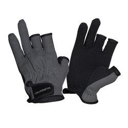 Перчатки рыболовные TSURIBITO SFG-8016, цвет серый