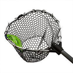TSURIBITO NET TRAP Fold c черной силиконовой сеткой, складной, длина 95см, диаметр 38см